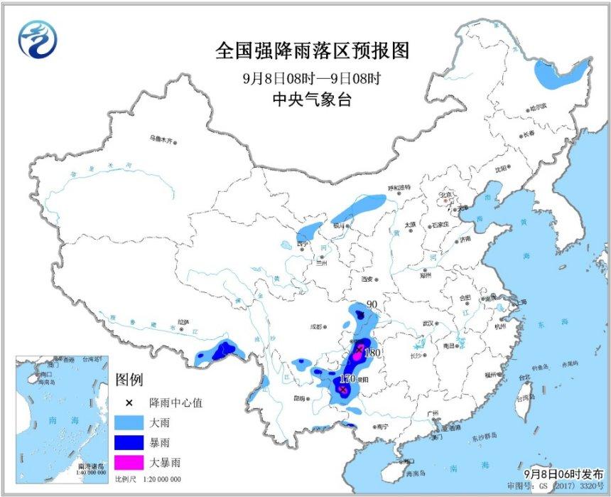 """四川贵州云南等地将有强降雨 """"玲玲""""即将移出东北地区"""