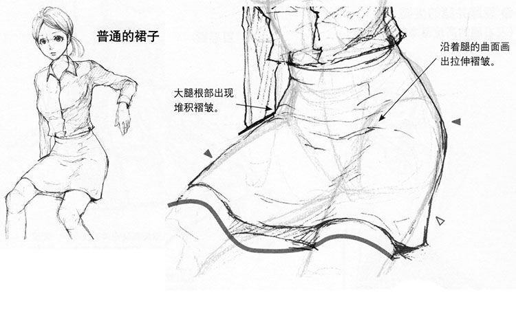 女生的裙子怎么画 漂亮裙子的画法
