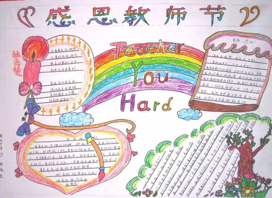 教师节主题手抄报 教师节祝福语素材,快收藏吧!图片