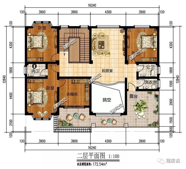 建房说二层欧式别墅图纸设计