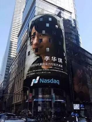 首位登上纽约时代广场大屏的艺术家,他人体油画中的女郎太美了