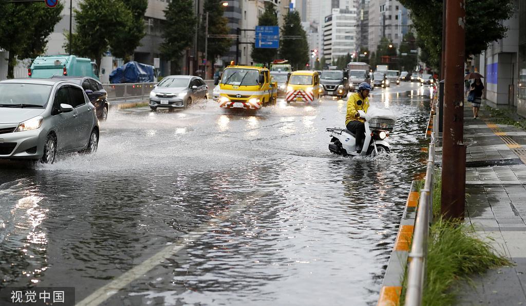 """强台风""""法茜""""登陆日本,已致1死40伤、93万户停电"""