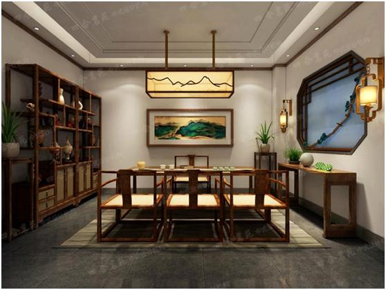 新亚博app在线下载茶馆设计 所有的意蕴尽在那流畅的点线里缱绻