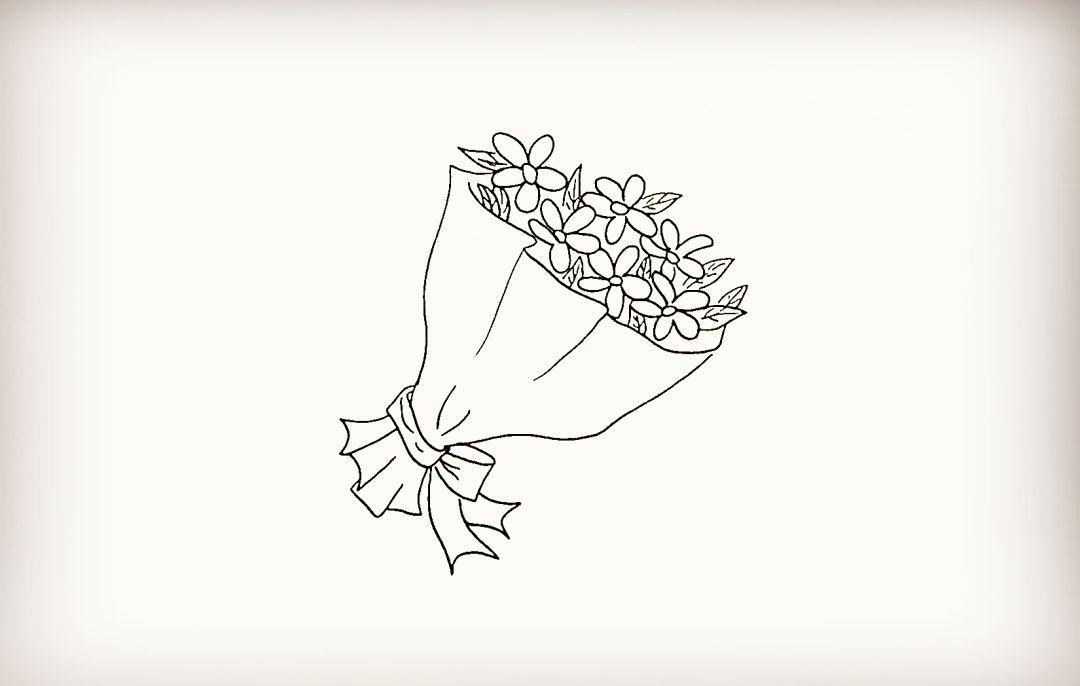 简笔画 一束花