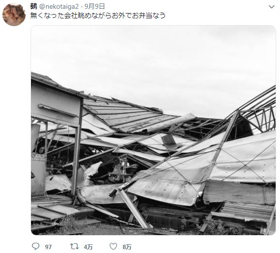 台风过后,日本上班族发现公司没了