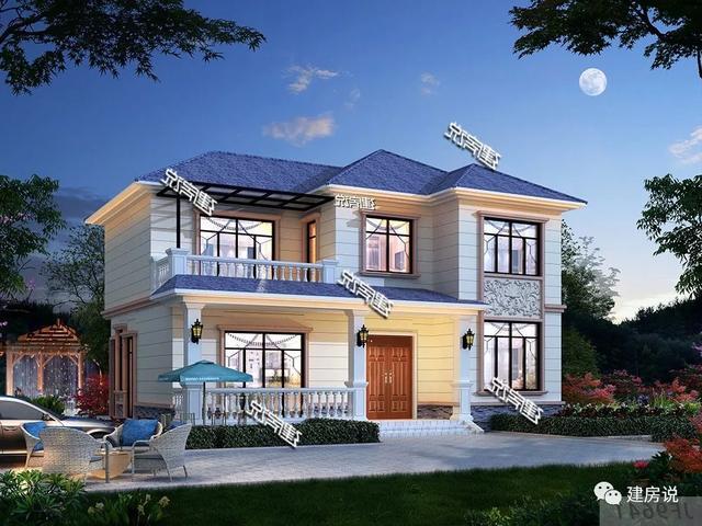 建房说别墅欧式图纸别墅二层v别墅,占地108平的农村北京最高绿化率图片