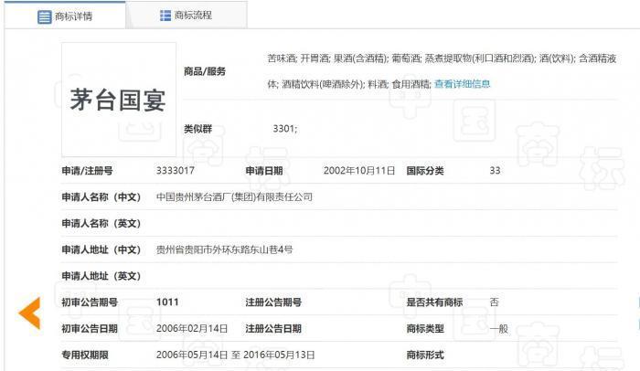"""北京知识产权法院:驳回茅台""""国宴""""商标诉讼请求"""
