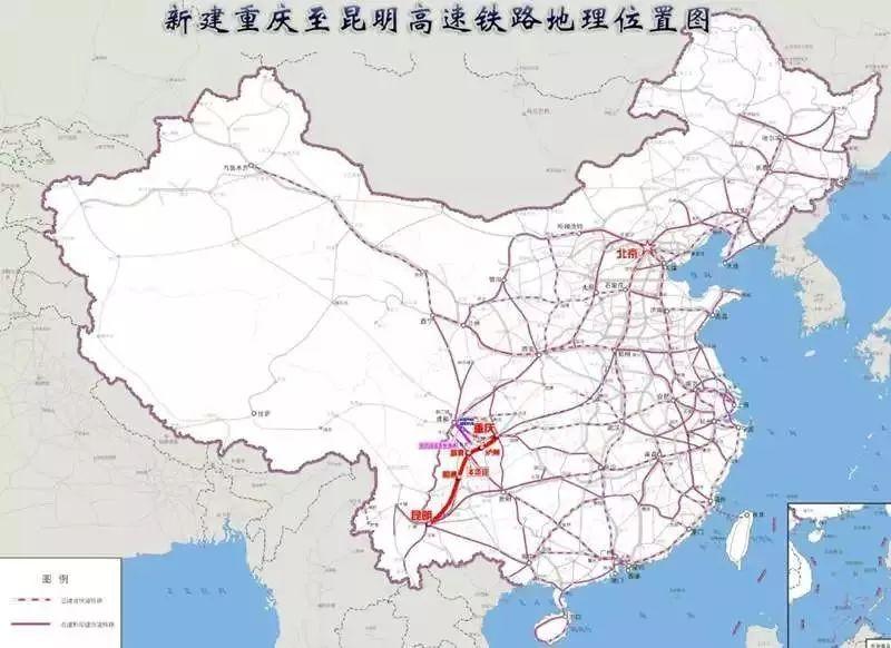渝昆高铁可研报告获批,计划年内开工图片