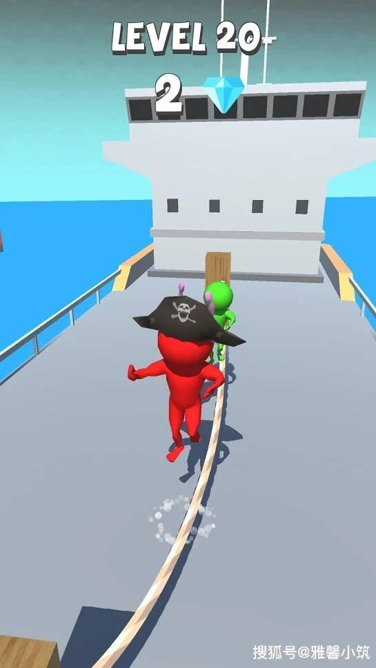 火柴人趣味跳绳手游《Jump Rope 3D!》经典节奏卡通