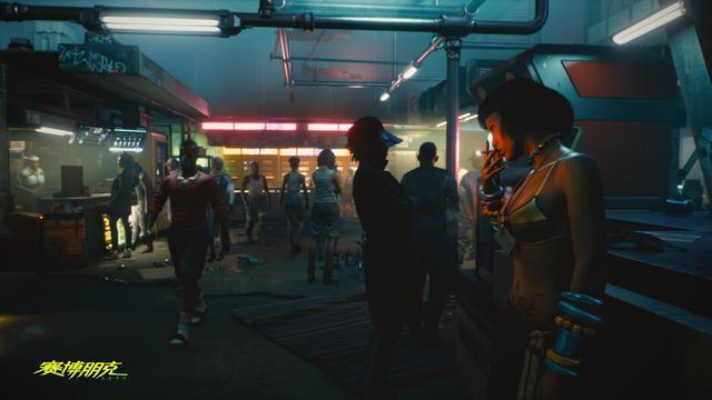 《赛博朋克2077》新截图妹子无所事事等待顾客光临