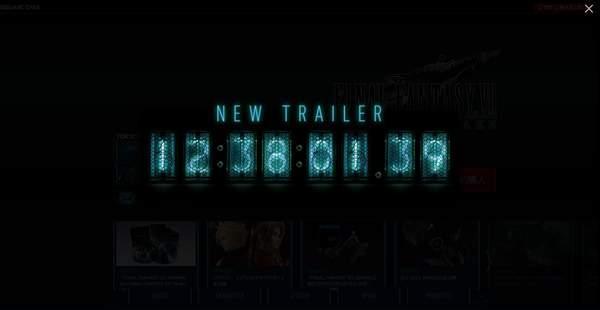 《最终幻想7:重制版》官网上线倒计时新预告今晚公布