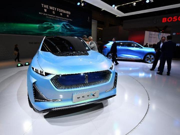 中国车企携新产品亮相法兰克福车展