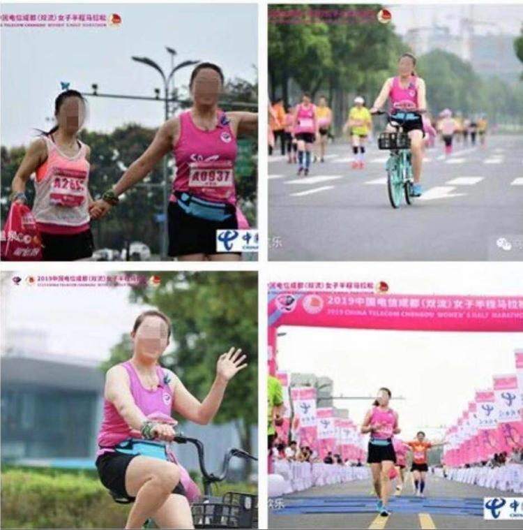 两女子骑单车参加成都马拉松,被取消成绩终身禁赛!此前不止一起