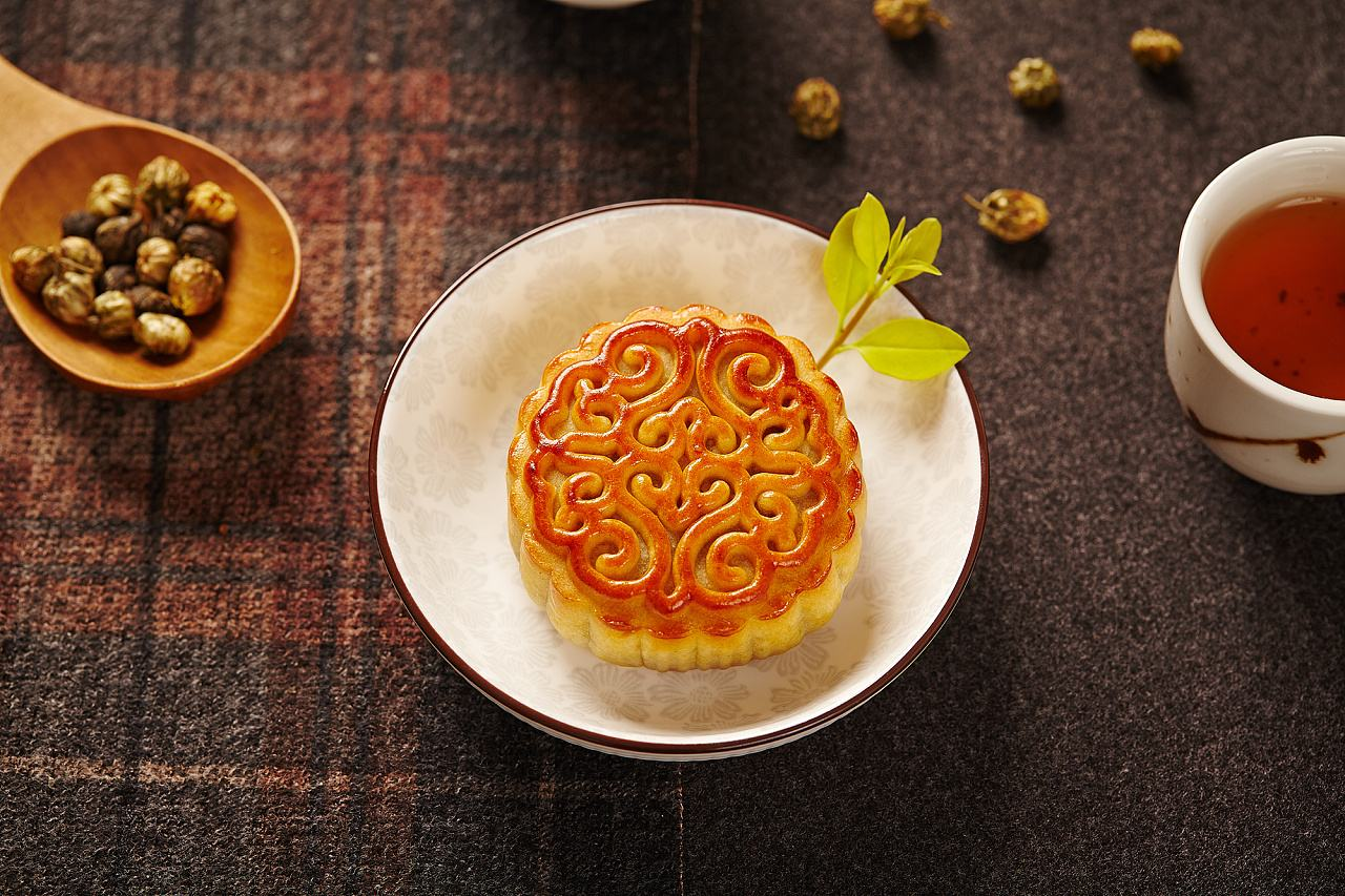五仁月饼图片