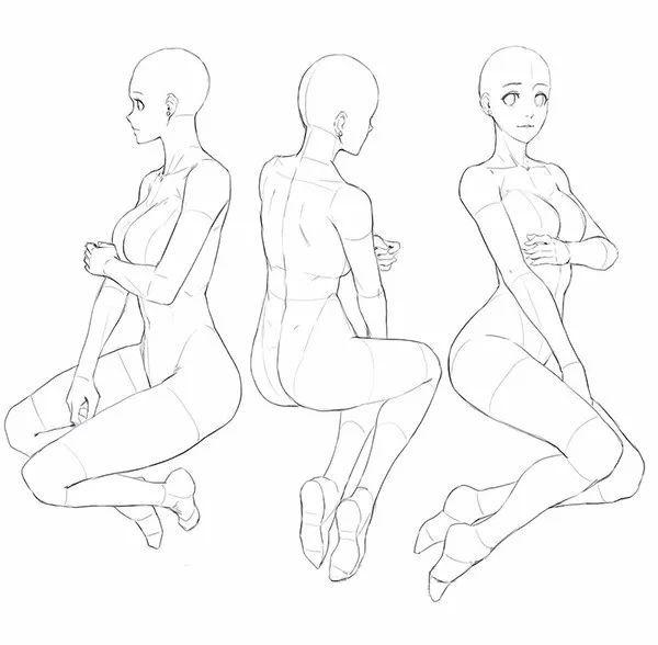 坐姿怎么画 各种人物坐姿画法教程