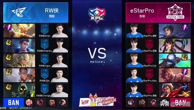 王者荣耀KPL:秋季赛揭幕战 eStarPro 3:0 RW侠_中路