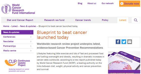 两大世界权威机构发布的防癌十大建议,算算自己是否合格!