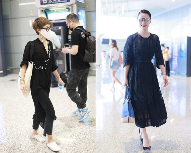 当43岁马伊琍和47岁陶虹同穿黑裙,终于见识了最高级的气质美