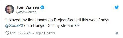 Xbox总监:我第一次玩了次世代主机XboxScarlett