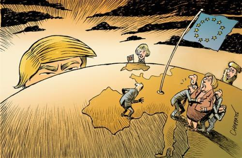 特朗普已经靠不住了?德国总理警告:美国不再是欧洲保卫者_德国新闻_德国中文网