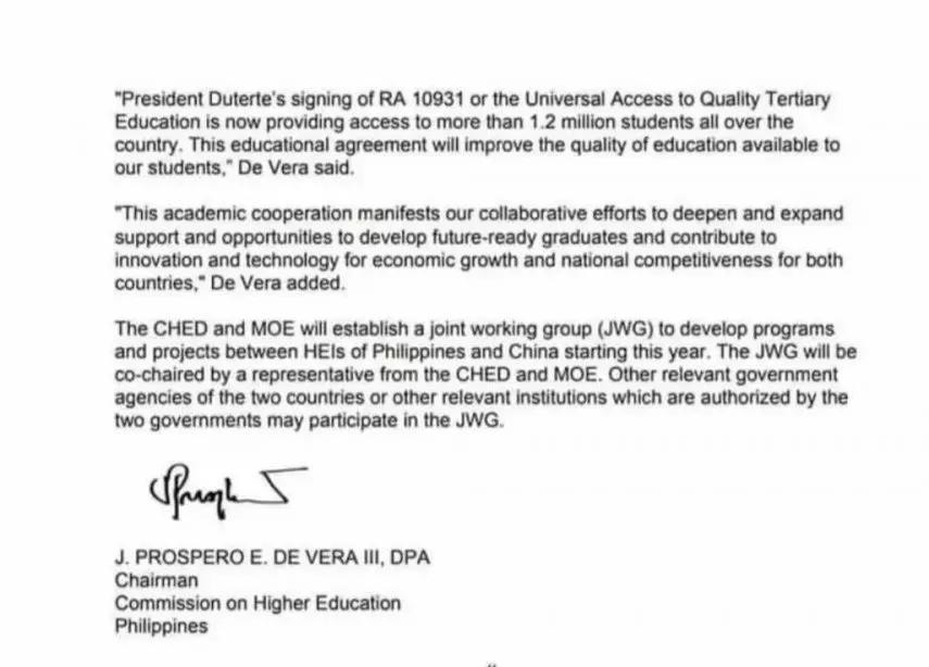 中菲达成高等教育合作共识,菲律宾高等教育受追捧