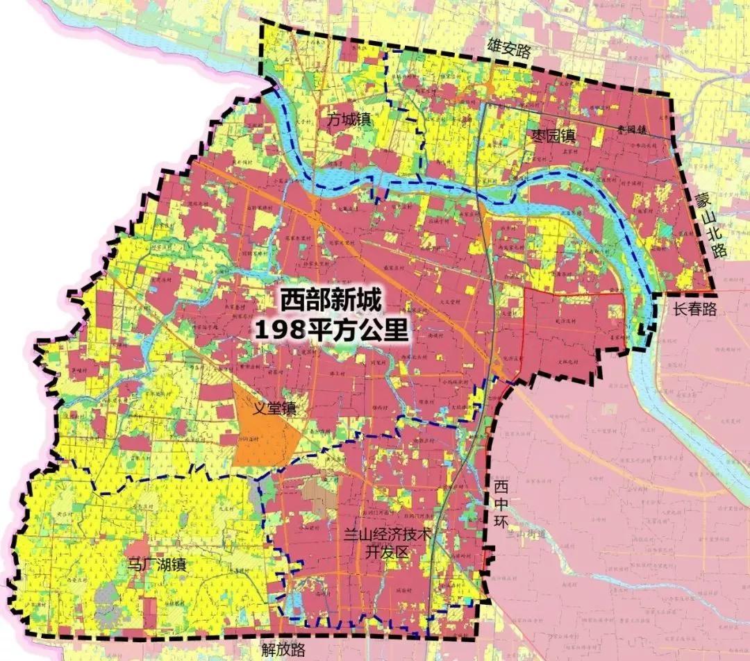 高密西部新城规划图