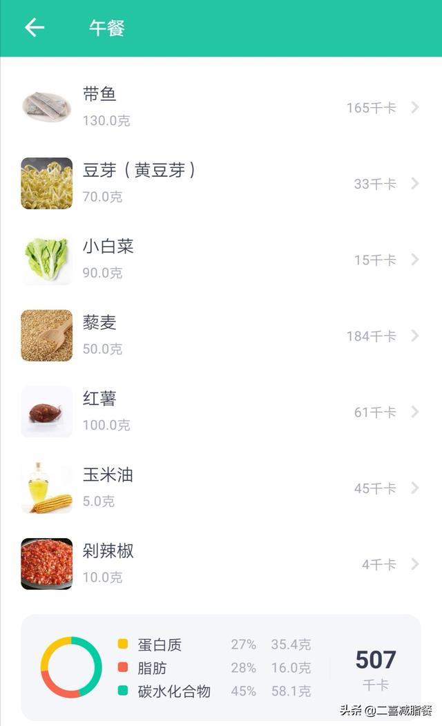 减肥午餐菜谱图片