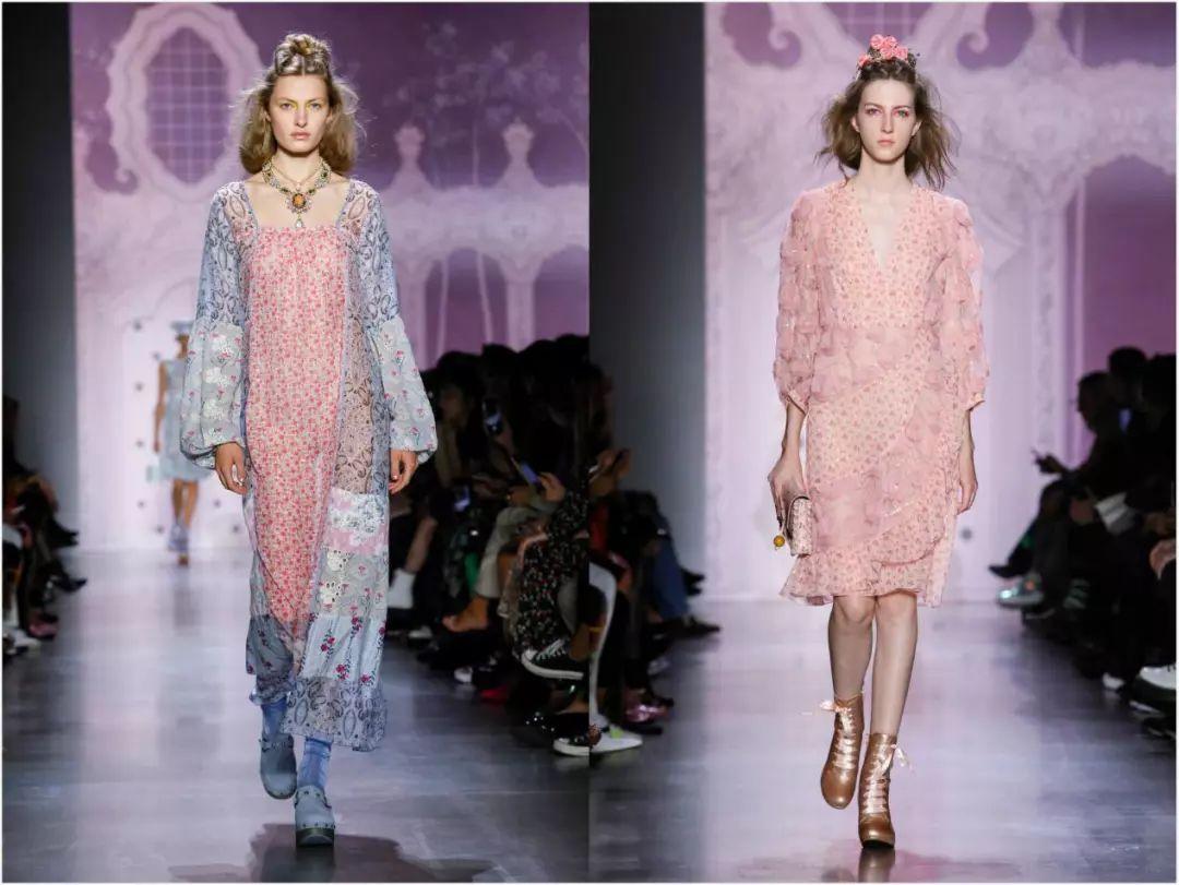 甜美烂漫的少女风,2019纽约时装周Anna Sui走秀解析