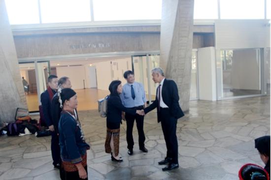 联合国教科文组织副总干事曲星先生现场参观