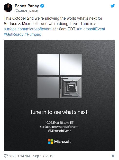 微软10月硬件发布会预告:多款Surface新品有望亮相