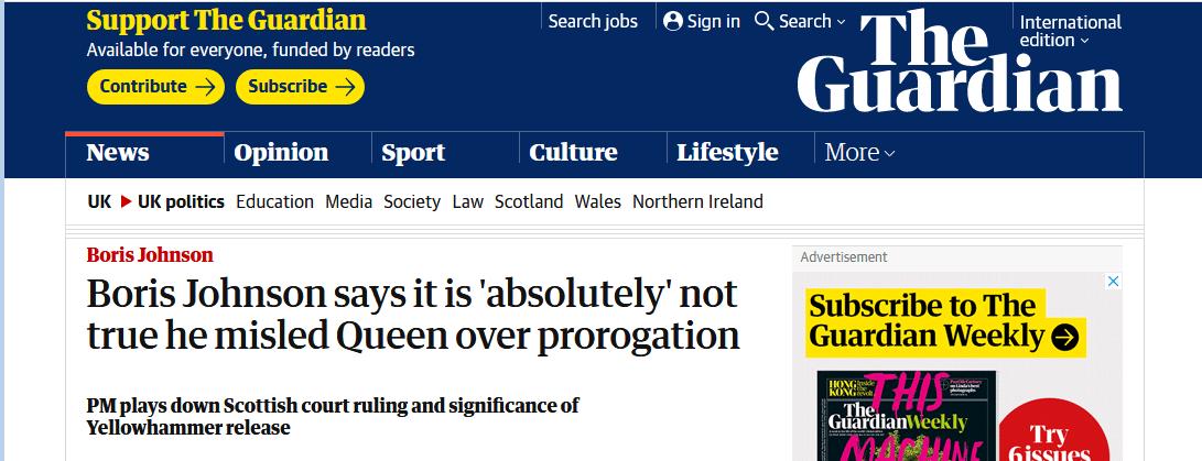 """为""""硬脱欧""""向女王撒了谎?约翰逊忙解释:绝对没有"""