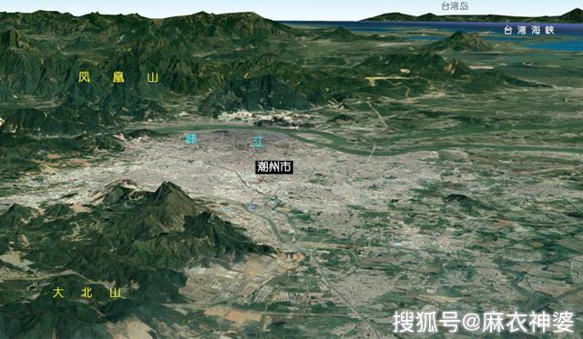 广东的3D高清全景图展示岭南大龙脉