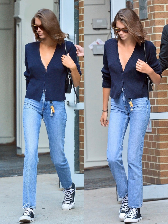 比例真好!凯雅近期街拍造型解析,18岁少女原来可以这样穿