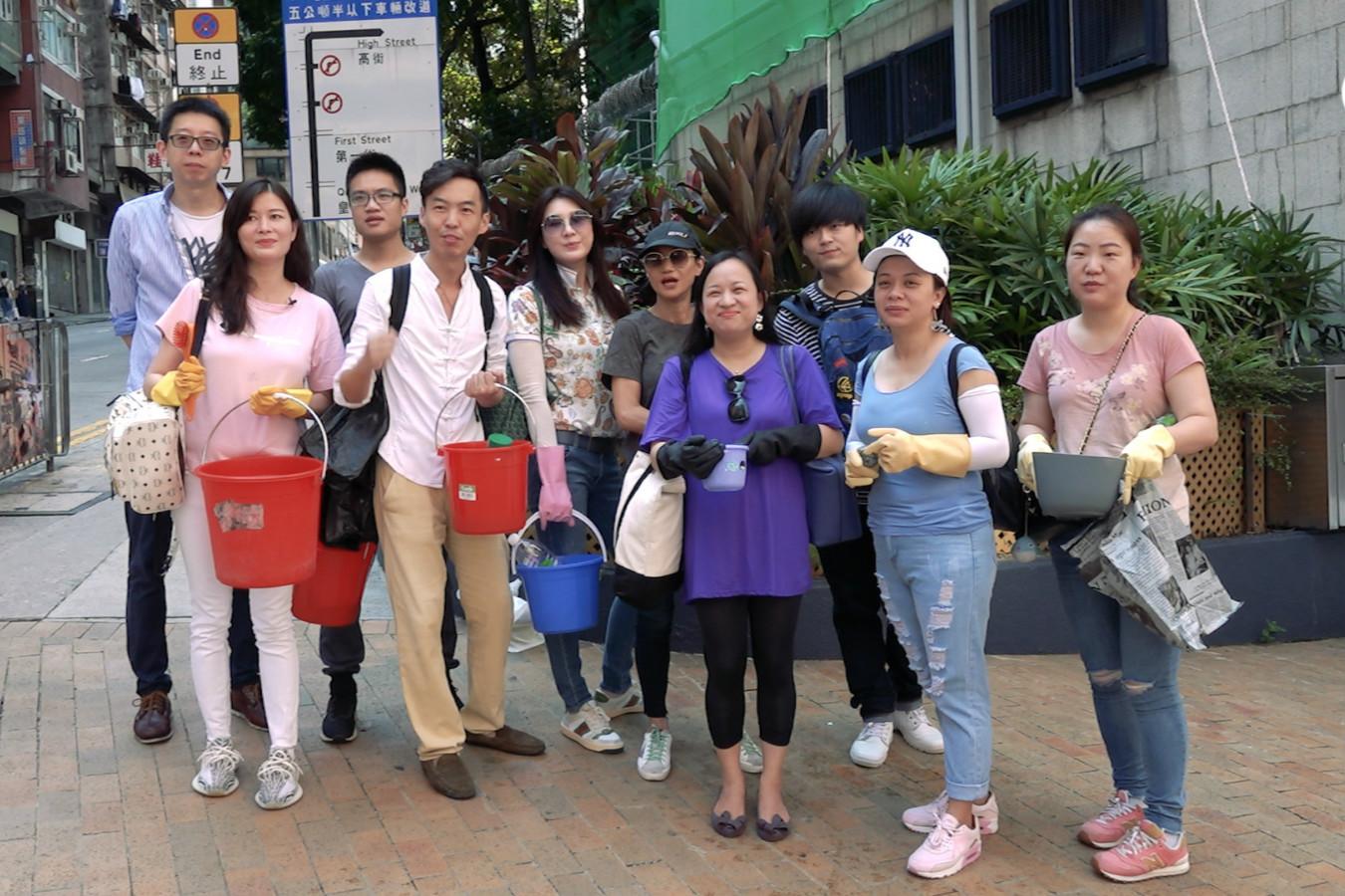 香港市民發起快閃清潔:希望暴力留下的傷痕能盡快修復