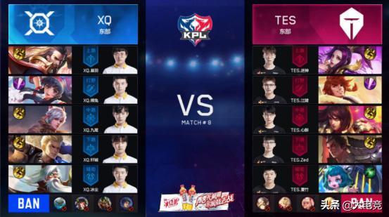 王者荣耀KPL:TES首战状态低迷1:3不敌XQ