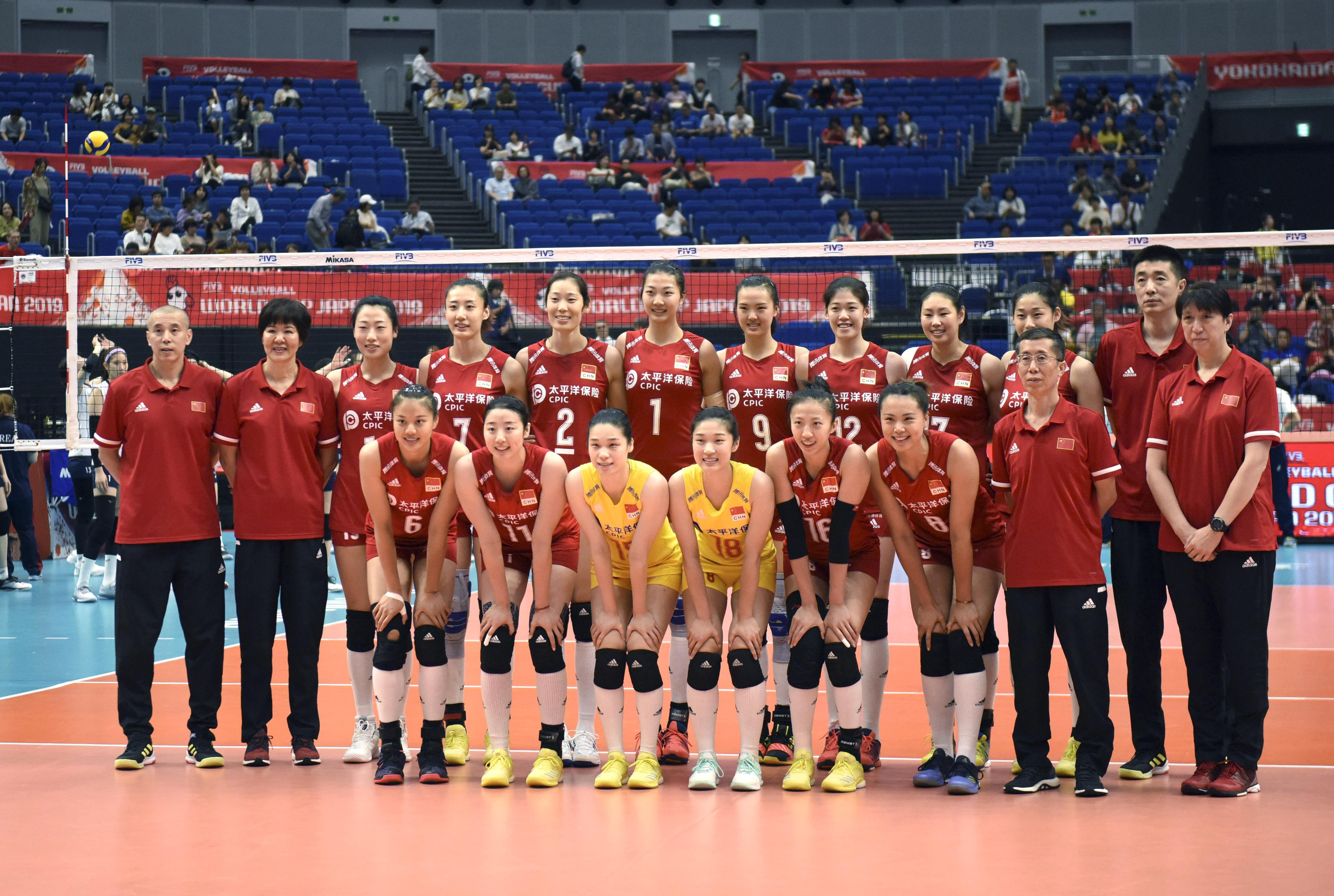 排球——女排世界杯:中国队对阵韩国队