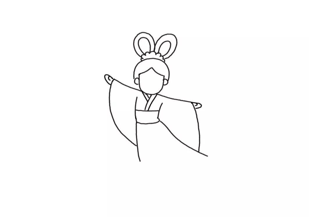 轻松画出美丽的嫦娥和可爱的玉兔 中秋节简笔画来啦