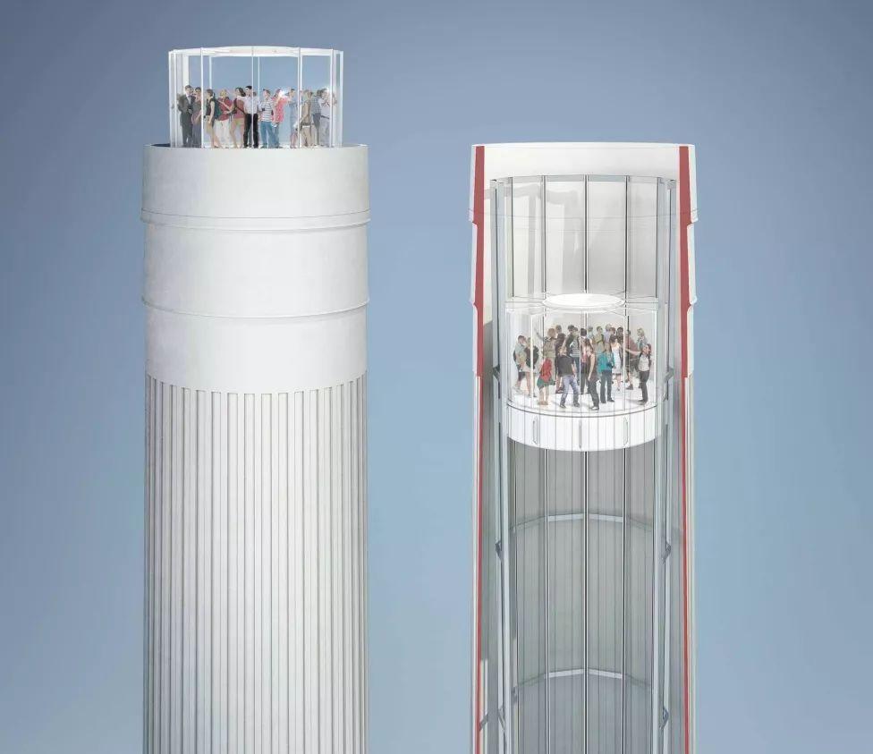 烟囱电梯设计图图片
