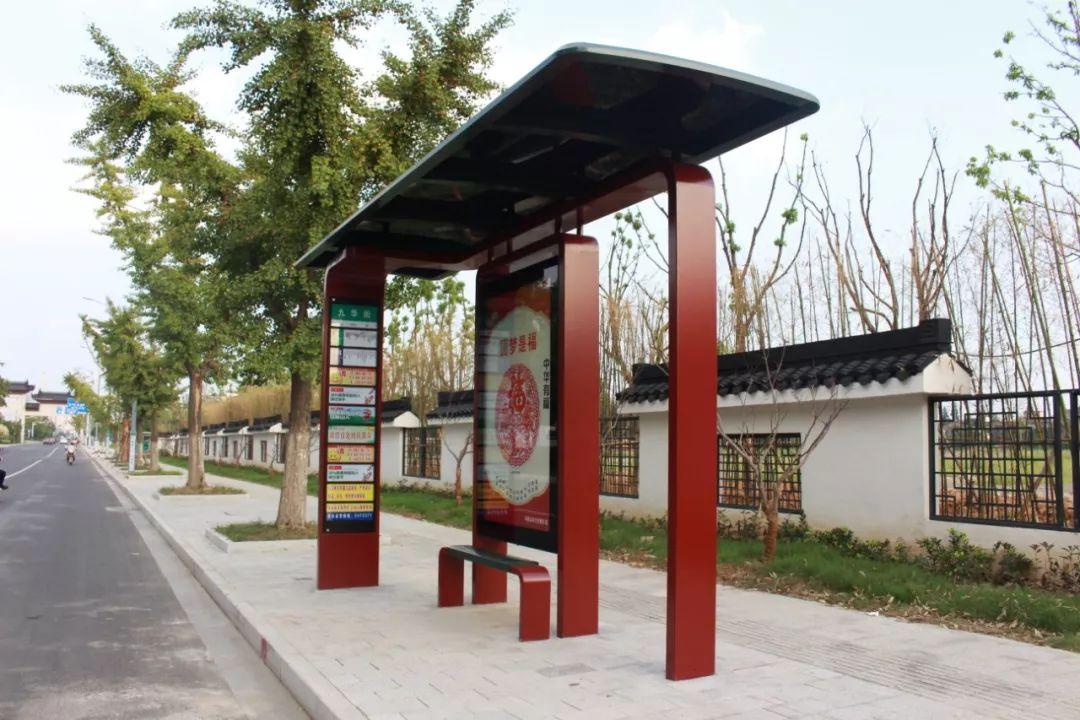 高大上 马鞍山市区首批95座新公交站亭靓丽上线