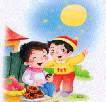 小学一年级传统节日《中秋节》看图写话+日记范文,给孩子收藏!图片