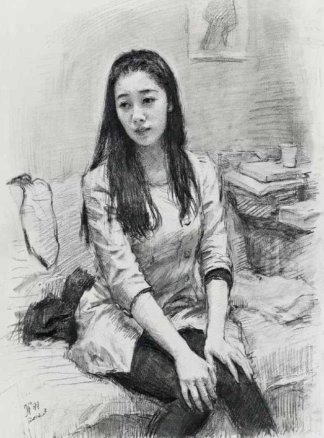 中央美院教授的传统写实油画,素描精品欣赏