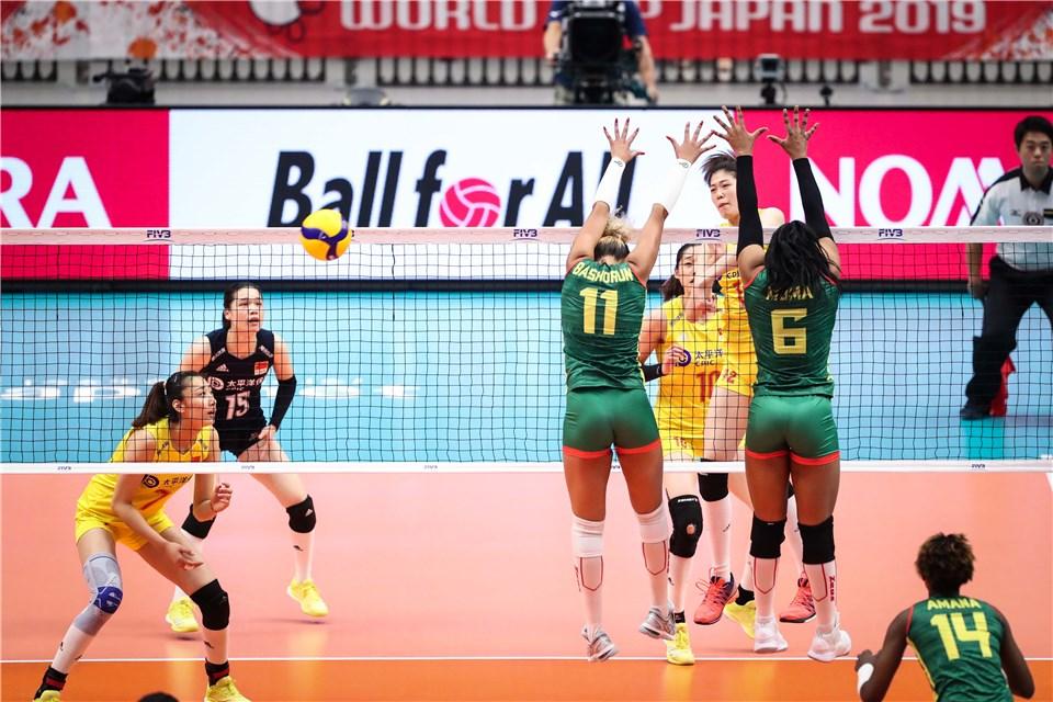 世界杯-女排3-0喀麦隆2连胜 开局2-9挖坑演逆转