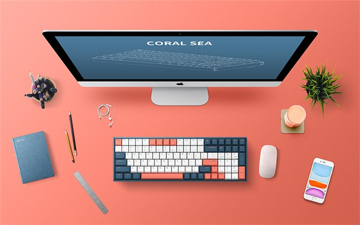 """IQUNIX推出""""珊瑚海""""F96机械键盘"""