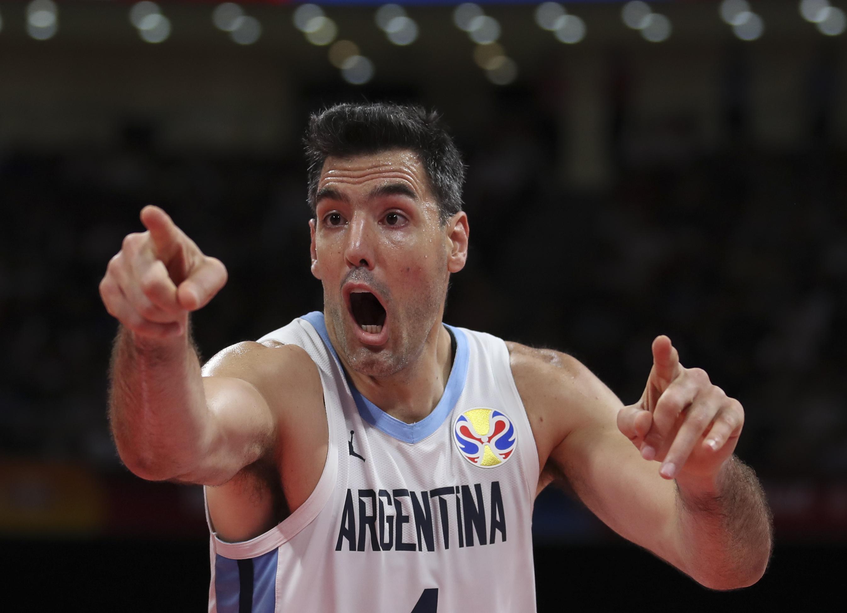篮球——决赛:西班牙队对阵阿根廷队