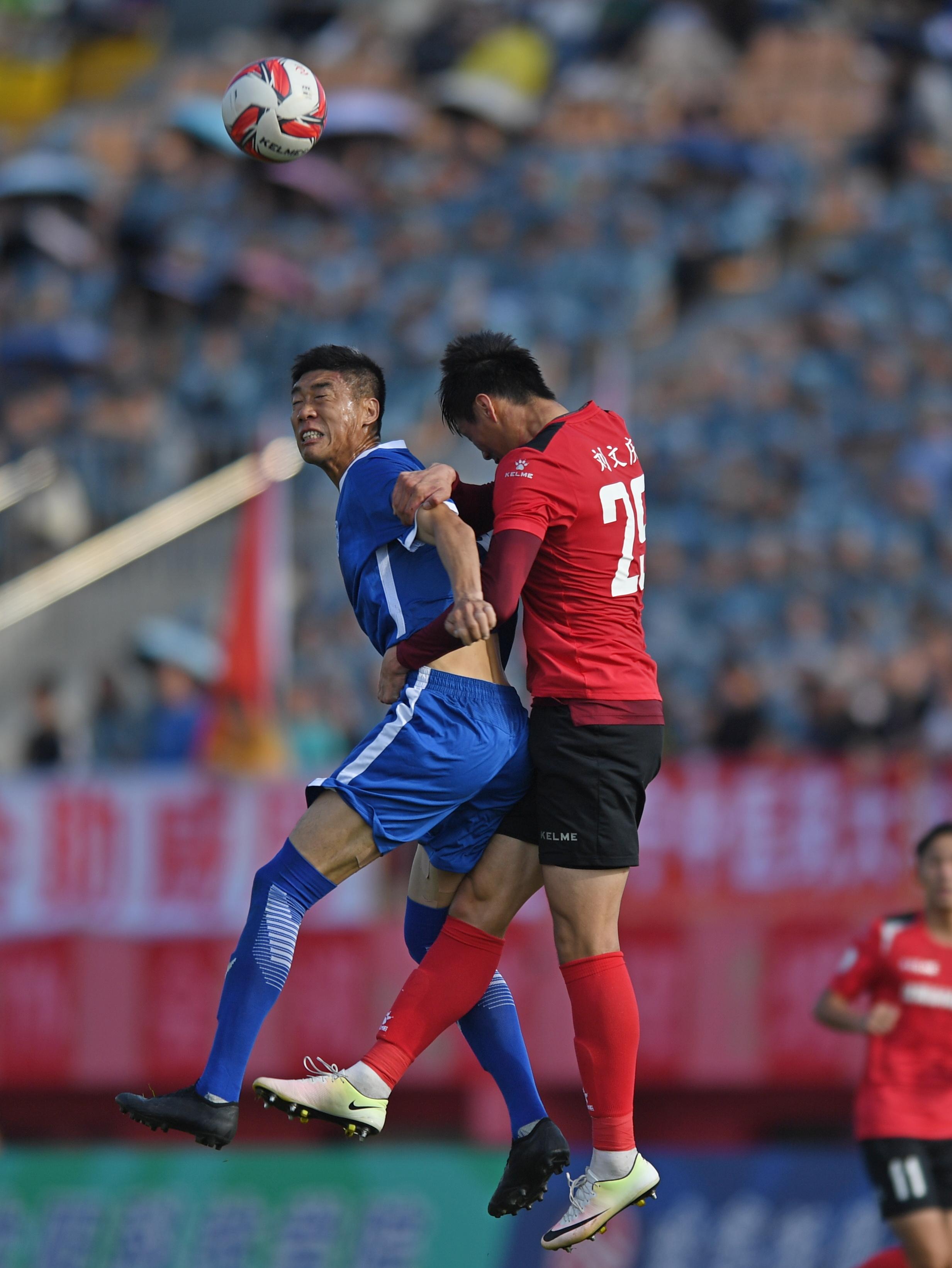 足球——中乙:沈阳城市建设胜河北精英