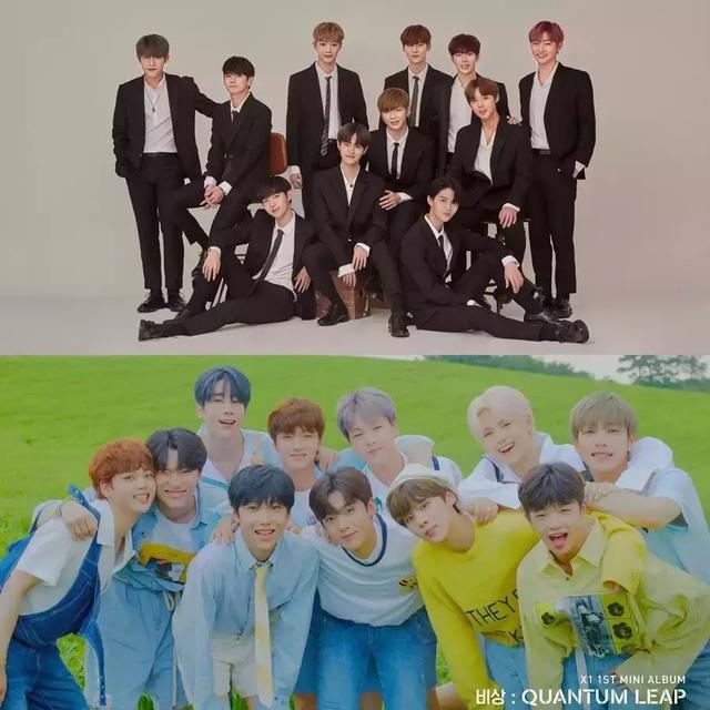 韩网整理的Wanna One与X1的五大差异,选秀出身韩团命运不同?