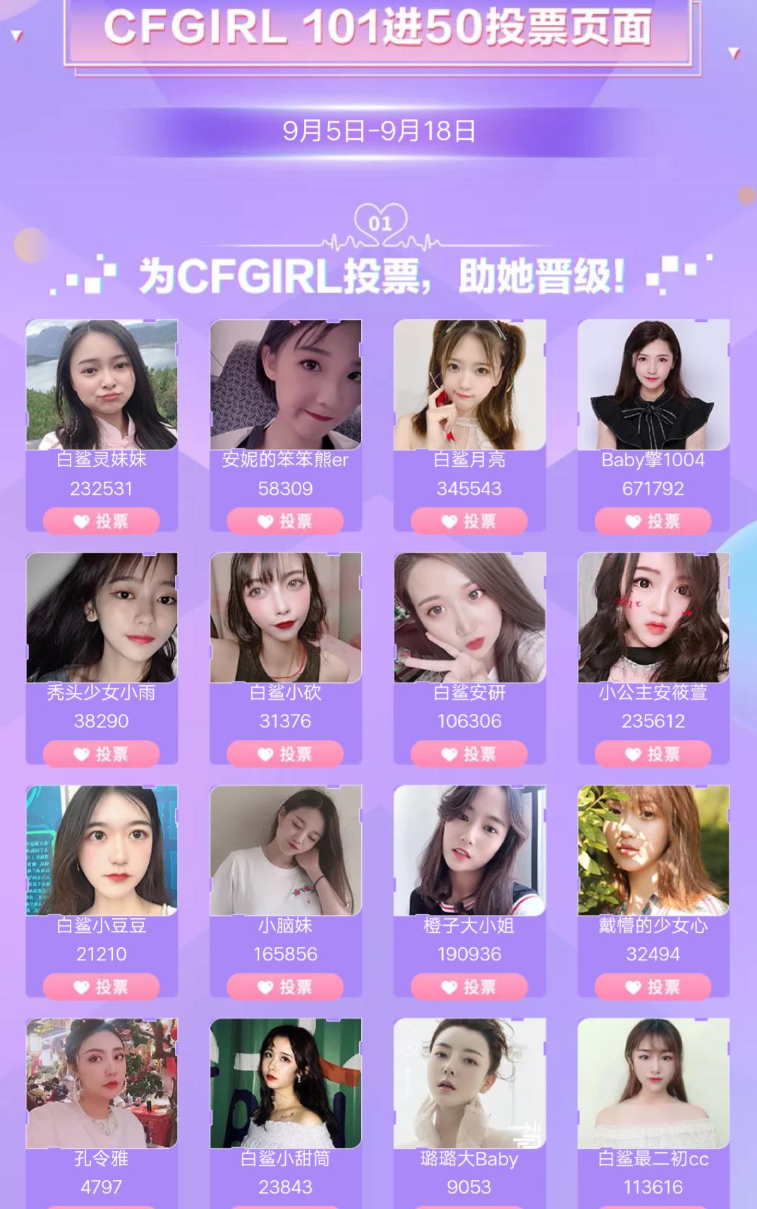 斗鱼票选CF女孩,鱼美人11强上演真人秀,小团团C位出道?