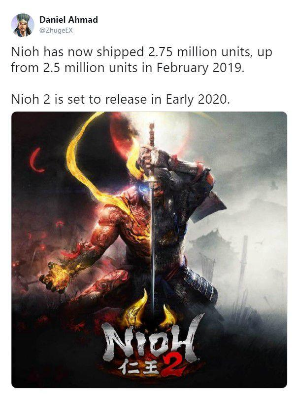 《仁王》全球销量275万套《仁王2》或2020年初发售