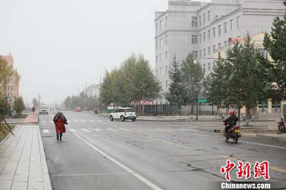 """""""中国最北城市""""迎降雪比去年提前25天"""