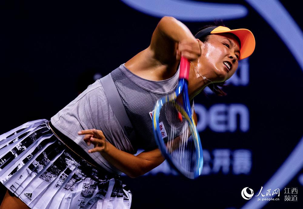 2019江西网球公开赛设置7天正赛的激烈经过角逐选手,图为帷幕在v网球中cad层内线如何落下性图图片